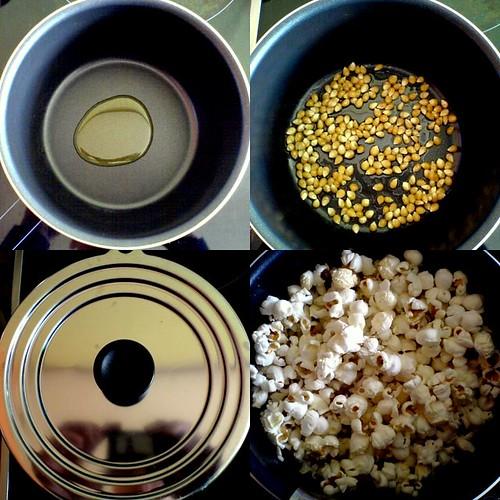 Как сделать попкорн в домашних
