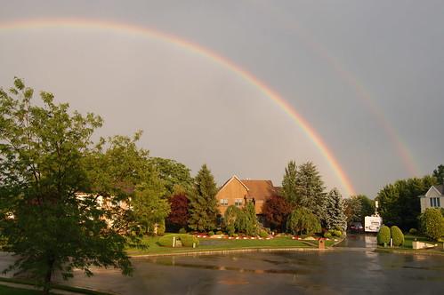 rainbow on my porch - 4