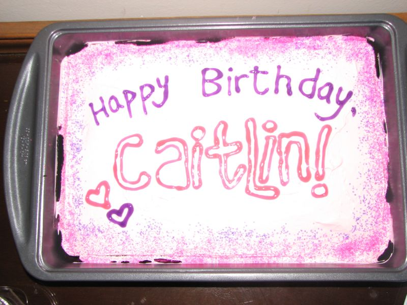 Caitlar's cake, pink on pink
