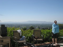 Tim dries off with the San Fernando Valley in the background. (06/16/07)