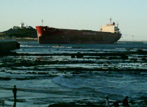 Pasha Bulker on Nobbys Beach Newcastle