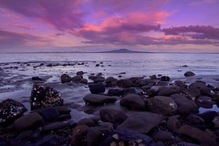 Rangitoto Dawn (Light Knight) Tags: ocean new sunset sea sunrise rocks pacific pentax zealand maori foreground rangitoto pentax1645 k10d platinumphoto