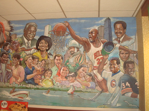 Chicago Mural in McDonalds - Wabash & Adams