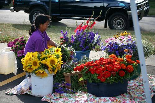 Flower vendor!