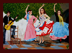 Spanish Dancers with Guitarist