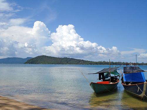 Tranquila playa en Sihanoukville