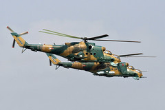 Hinds in formation (red R) Tags: aviation helicopter airforce hind militaryaviation mi24 milmi24e