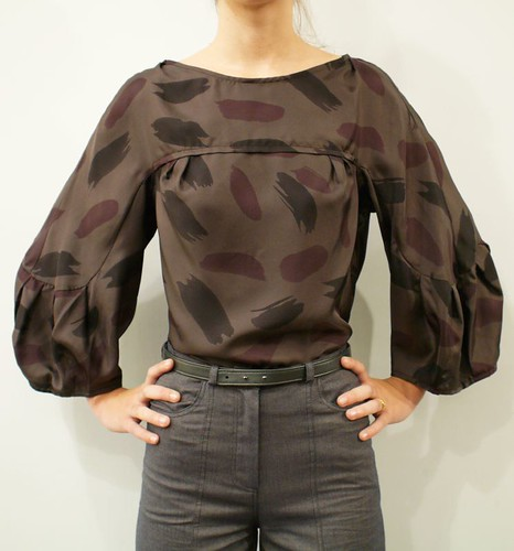 Rachel Comey silk blouse, & wide leg pants, Thuy leather belt