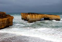 London Bridge fell down (Abizeleth) Tags: beach londonbridge sandstone rocks australia victoria cliffs formation greatoceanroad naturesfinest londonarch diamondclassphotographer excapture
