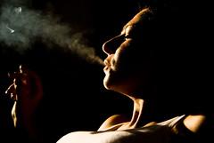 smokie (Sakuto) Tags: portrait people woman cigarette smoke