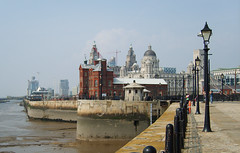 Liverpool Waterfront (robdeja) Tags: city building port liverpool river landscape dock waterfront promenade liver mersey