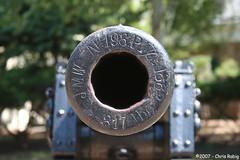 Bullseye (FadderUri) Tags: canon georgia barrel civilwar bullseye chickamauga cwd tacwdd cwd361 cwdweek36