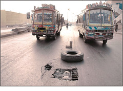 Karachi Mauripur Road (Mud$i) Tags: road bus broken karachi traffice mauripur