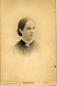 Antonia Maury's 'photograph card' in her senior year at Vassar