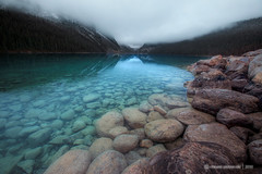 Mysterons (VincentPiotrowski) Tags: winter cold water nationalpark overcast banff lakelouise badlight huntermoon laclouise
