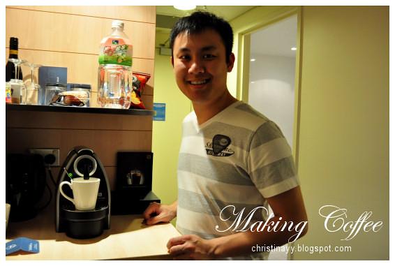 Novotel Brisbane: Making Coffee