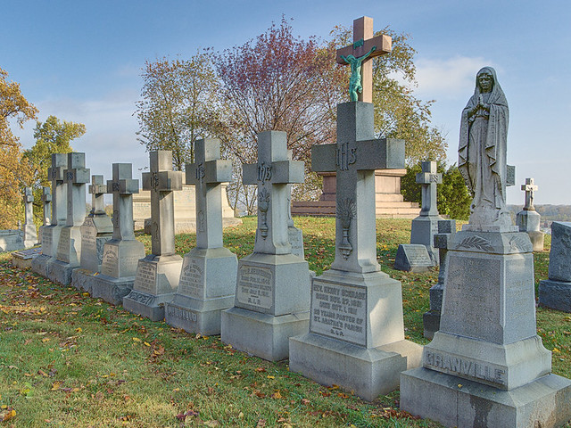 Calvary Cemetery, in Saint Louis, Missouri, USA - priests' graves