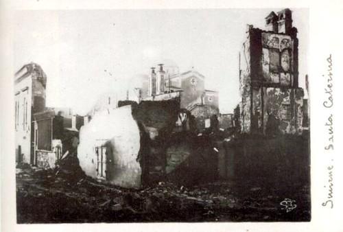 Yangından sonra Aziz Ekaterini Kilisesi