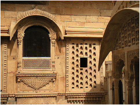 gone beyond their architectural function in the palaces of Rajasthan,