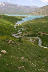 Dasht e Laar (salehoffline) Tags: blue sky green water iran persia laar laarnationalpark
