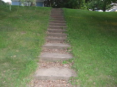 steps up the lawn (bookish in north park) Tags: wisconsin steps lawn eauclaire historicdistrict novideo novideos