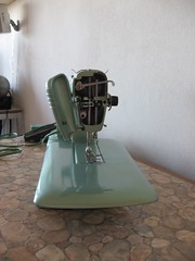Sewing Machine- side view into it's brains