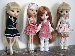 Pullip Family - part II - The Cute and Innocent (Natasja_75) Tags: family dolls collection pullip paja fourrure leprotto