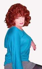 (Tgirl Trines) Tags: drag tv cd crossdressing redhead tgirl transgender tranny transvestite dragqueen transexual retired crossdresser ts tg shemale pensioner femaleimpersonator