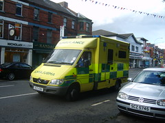 Ambulance (Garibaldi McFlurry) Tags: belfast ambulance northernireland emergency siren bluelight ulster lisburnroad northernirelandambulanceservice