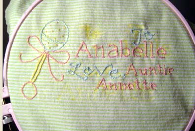 Finished Anabelle Quilt Tag