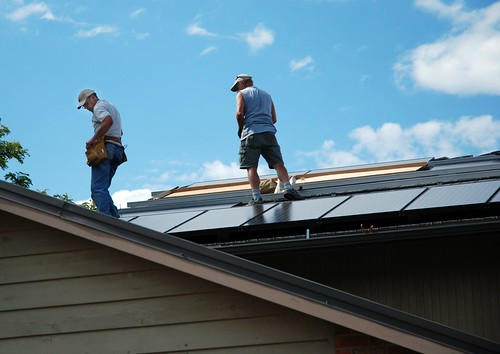 Flatiron Solar PV array install