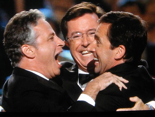 Jon Stewart, Stephen Colbert, Steve Carrell - You're friends, we get it