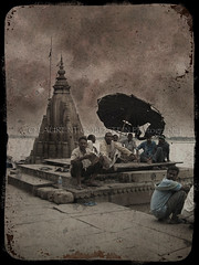 In my Soul (designldg) Tags: people india heritage water sepia river temple colours religion atmosphere soul varanasi hindu dharma oldcity ganga ganges ghats benaras  indiasong hourofthediamondlight theperfectphotographer