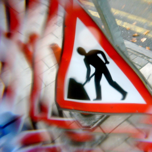 Roadworks Sign by Caro's Lines.
