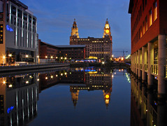 On reflection (Mr Grimesdale) Tags: reflection liverpool nightime 2008 merseyside liverbuildings capitalofculture mrgrimsdale stevewallace capitalofculture2008 liverpoolcapitalofculture2008 princessdock europeancapitalofculture2008 15challengeswinner photofaceoffwinner liverpoolcapitalofculture pfogold mrgrimesdale grimesdale
