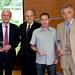 JM Jaeger, F Mitterrand, B Auffrère et JP de Kerraoul