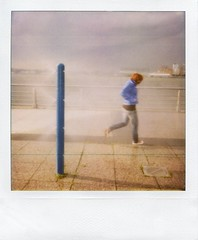 """The Girl Who Ran Away from the Water Just to Bump into a Storm"" (Sion Fullana) Tags: nyc portrait people urban newyork painterly beauty polaroid poetry kristina creative poetic hudsonriver hip orangehair polaroid600 allrightsreserved beautifulgirl newyorkers newyorklife christopherstreetpier bluejacket urbanshots urbannewyork girlrunning impossibleproject sionfullana edgecutfilm bluewaterpole sprinklerswithwater"