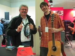 Angelo Tordini e Roberto Dalla Vecchia con RIC-01A al Music Italy Show 2010