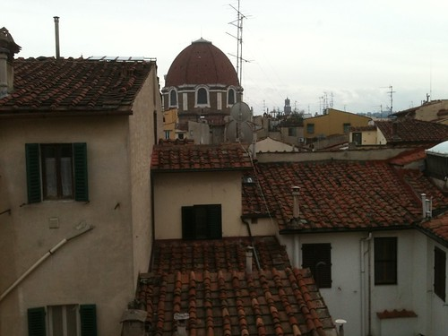 View from my hotel room window, Florence