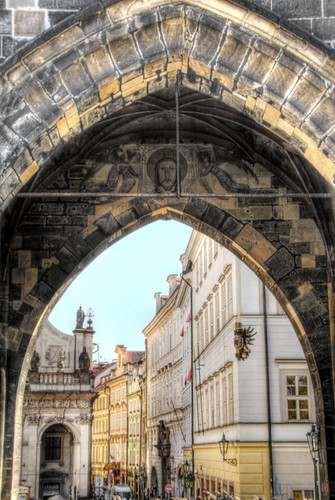 Old town tower detail. Praga. Detalle de la torre de la ciudad vieja. Praga