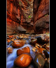 Narrow Light (Waterfall Guy) Tags: river rebel utah canyon zionnp narrows slotcanyon virginriver zionnatioanlpark caonxsi waterfallguy