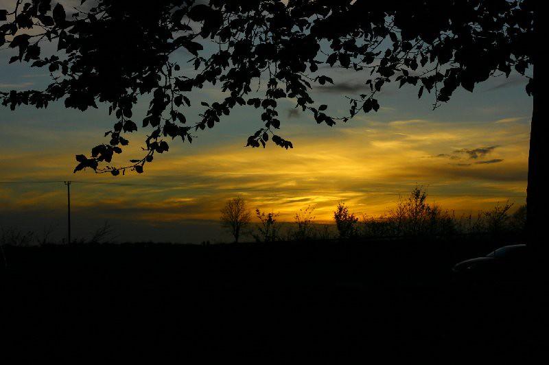 Sunset in October in Ireland