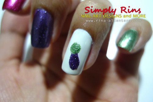 Nail Art Caronia Butterfly 01