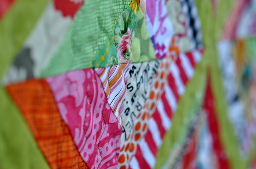 Beehive quilt - angle detail