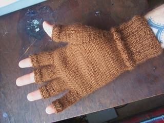 Knitting Pattern For Mens Fingerless Mittens : Ravelry: Mens Fingerless Gloves pattern by J. Campbell