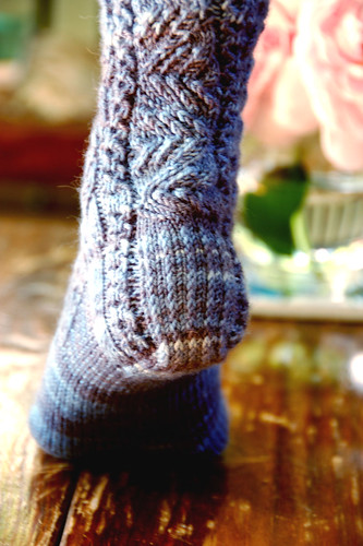 Nameless sock: Heel detail