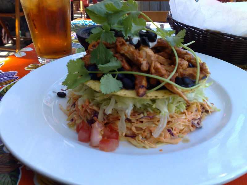 Grilled Chicken Tostada