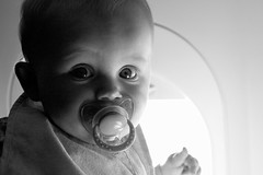 Not a great day in the history of aviation (Lance McCord) Tags: baby airplane sophia sophiagrace