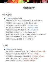 Milonga.be: tango courses