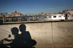 (sgoralnick) Tags: newyork me subway shadows ride motorcycle gothamist phillip 7train nycsubway sgoralnick phillipckim flickr:user=sgoralnick